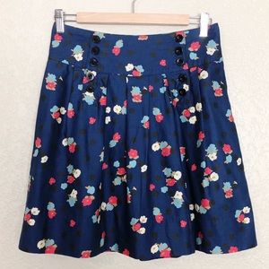 NWOT Cooperative by UO navy floral Pleated skirt